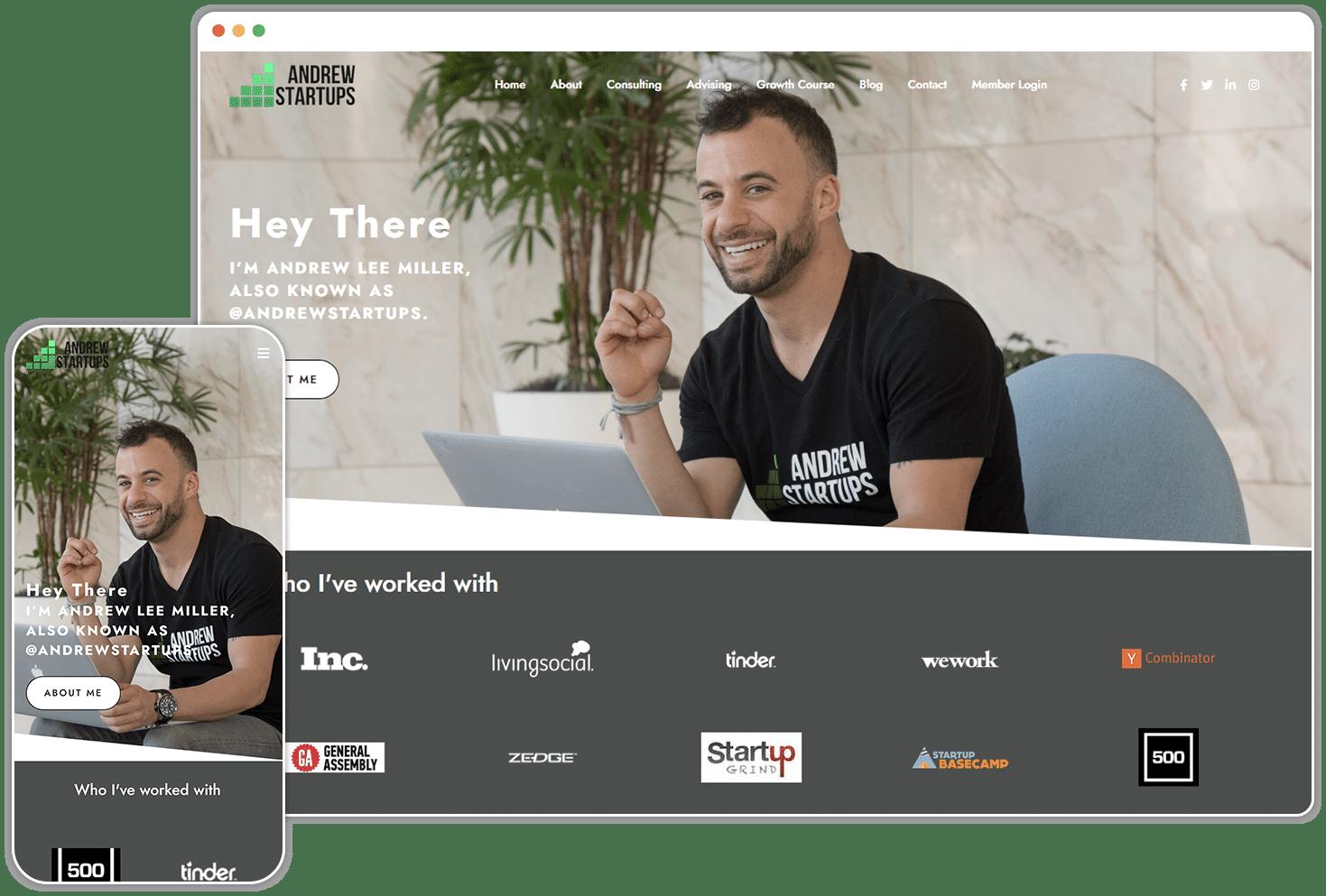 Andrew Startups Screenshot